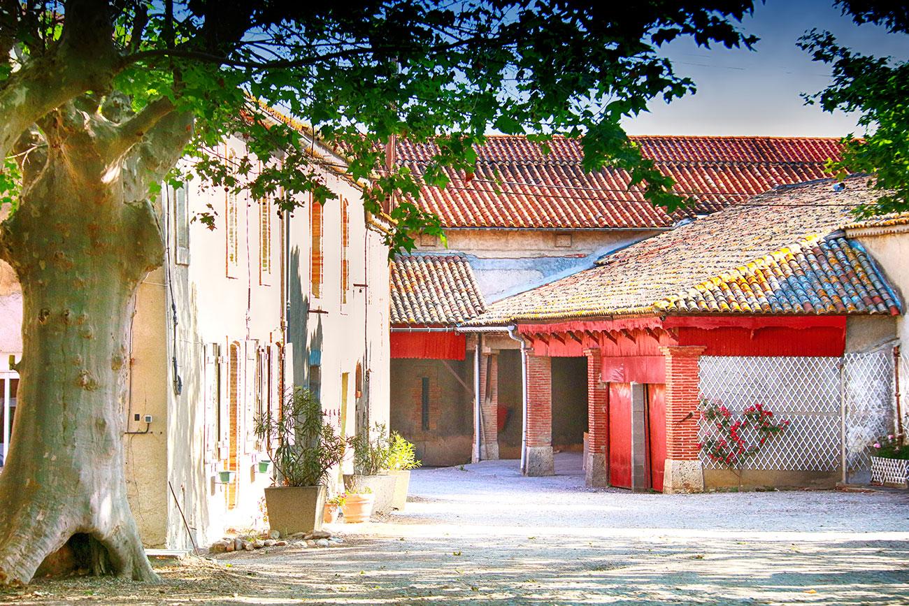 Entrée du Château Fontarèche à Canet d'Aude